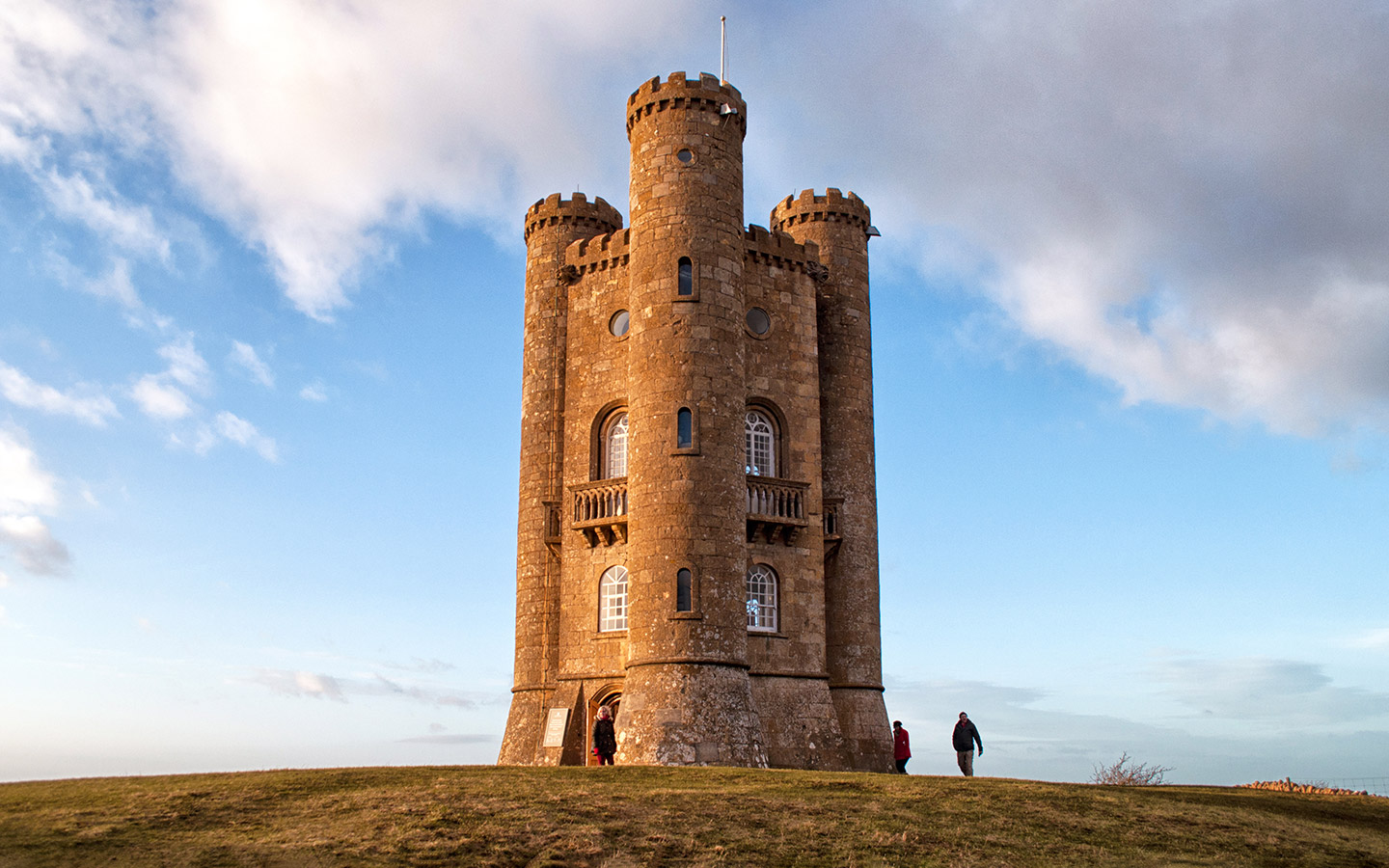 The Broadway Tower at sunset