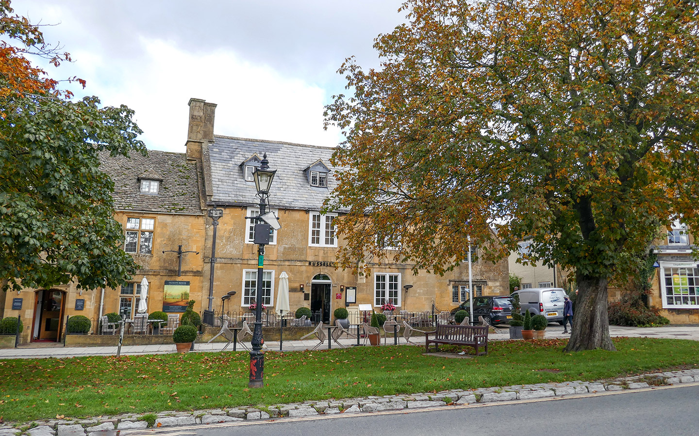 Russell's restaurant in Broadway, Cotswolds