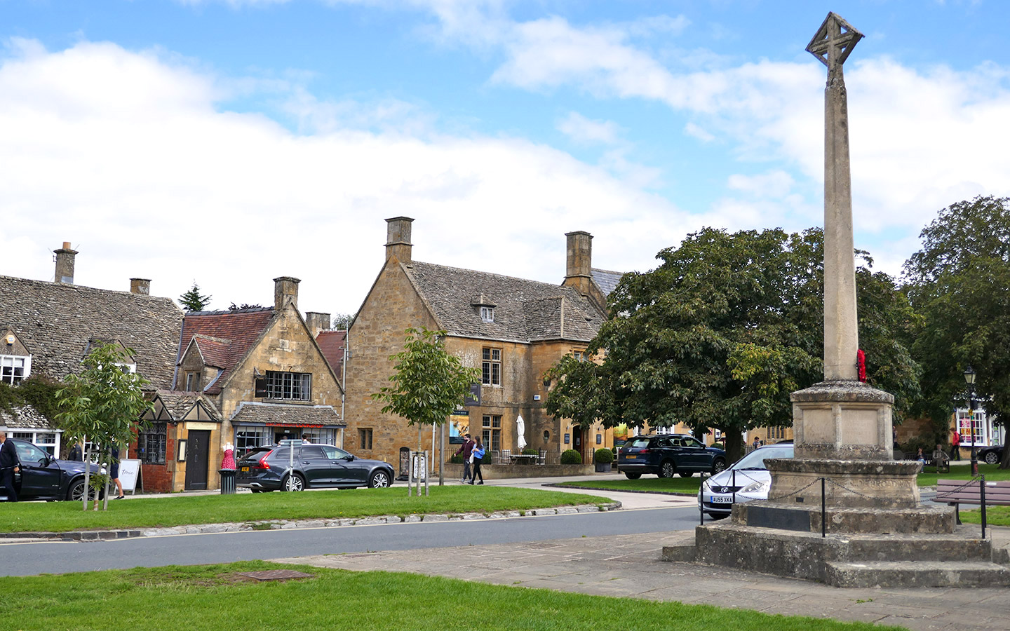 The village green in Broadway Cotswolds