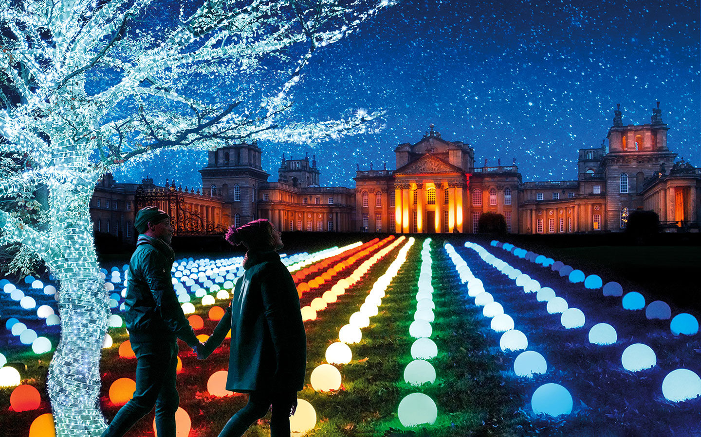 Blenheim Palace Illuminated Light Trail [photo credit Blenheim Palace]