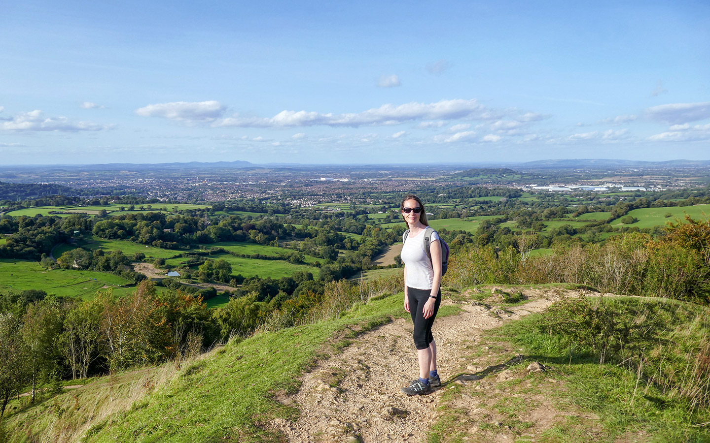 Views from Painswick Beacon on the Cotswold Way