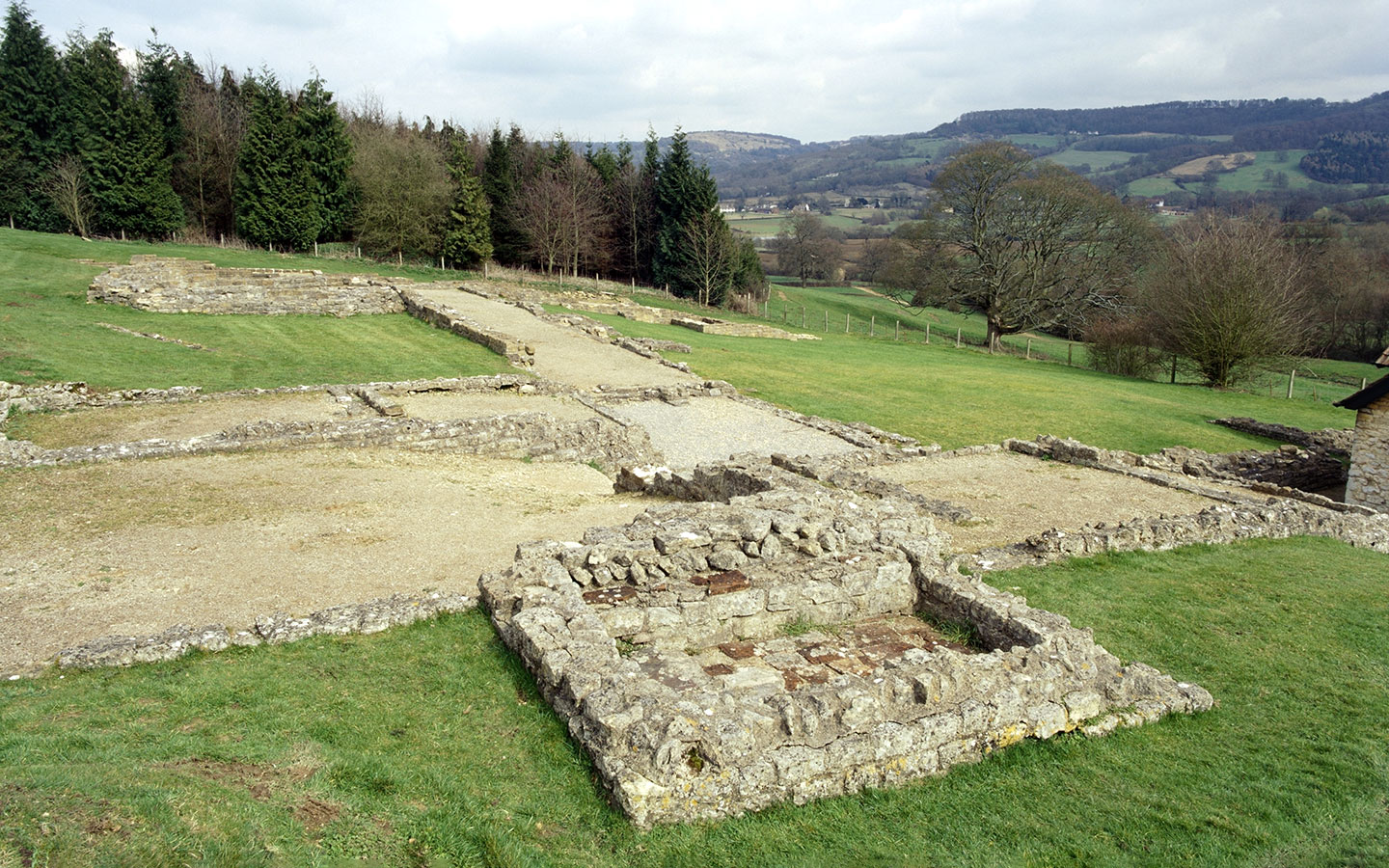 Great Witcombe Roman Villa English Heritage sites in the Cotswolds [photo credit Historic England Photo Library]