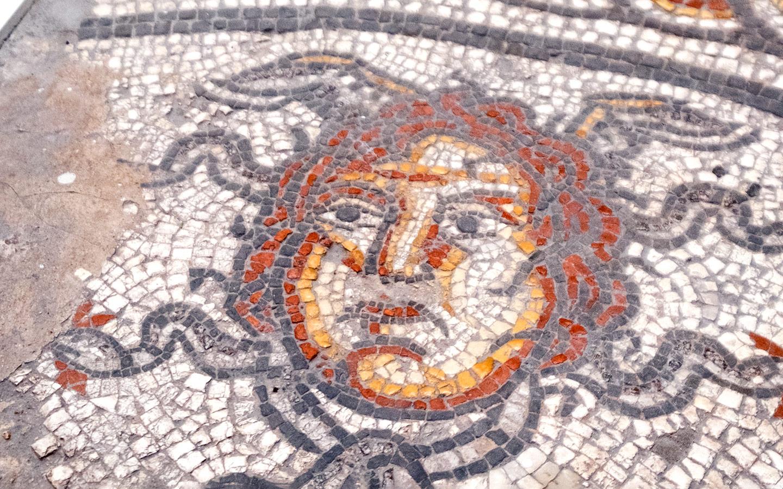 Roman mosaic in Cirencester's Corinium Museum