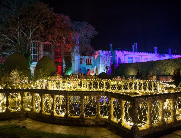 Sudeley Castle Spectacle of Light Christmas light trail in the Cotswolds