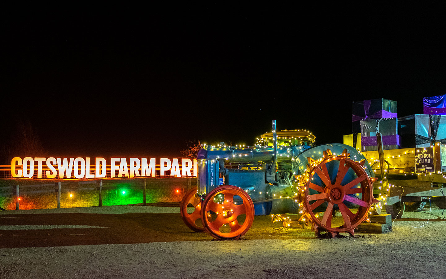 Cotswold Farm Park Enchanted Light Trail in the Cotswold