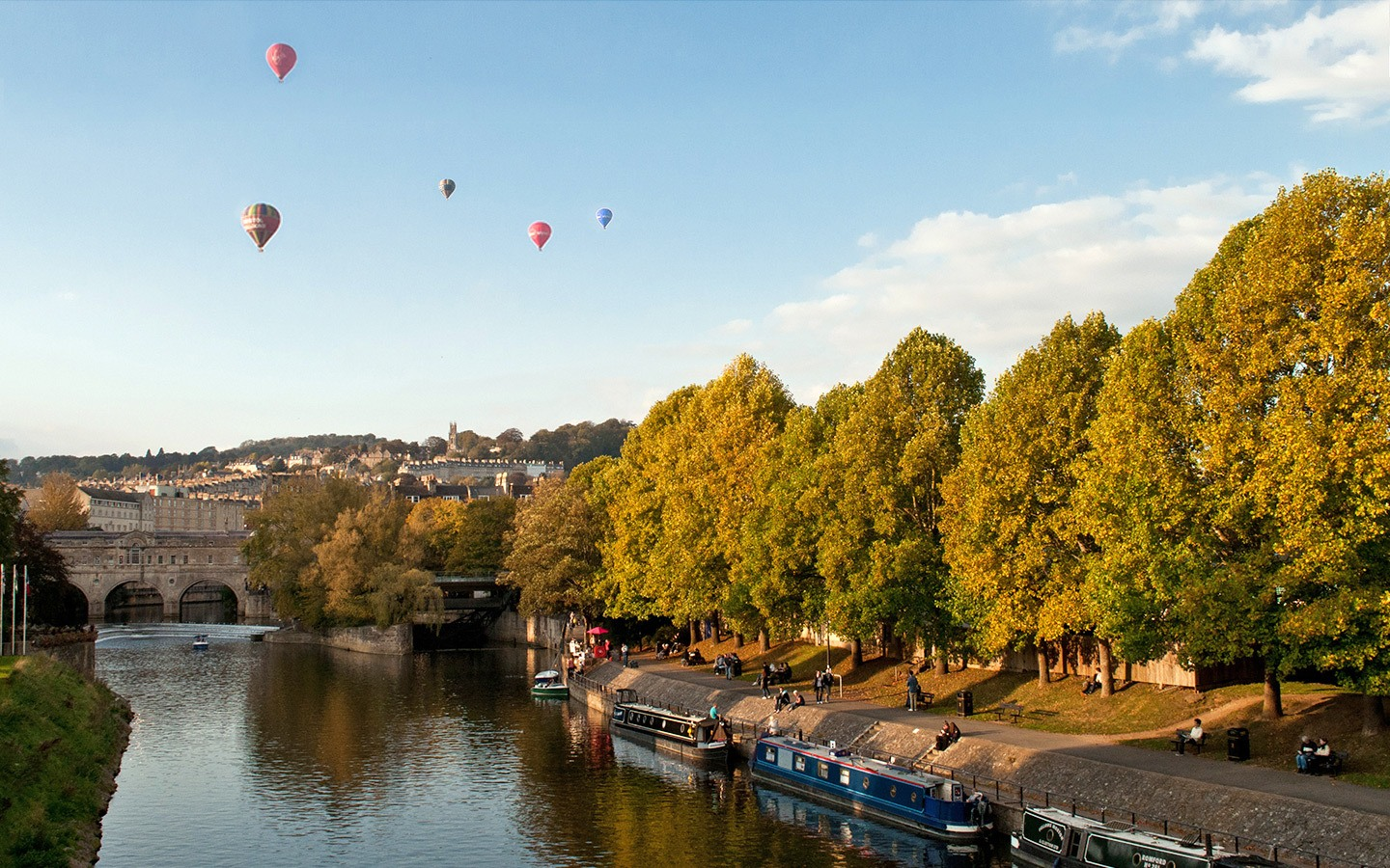 Balloons in the sky over Bath Spa