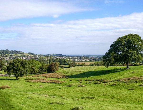 Looking down to Winchcombe