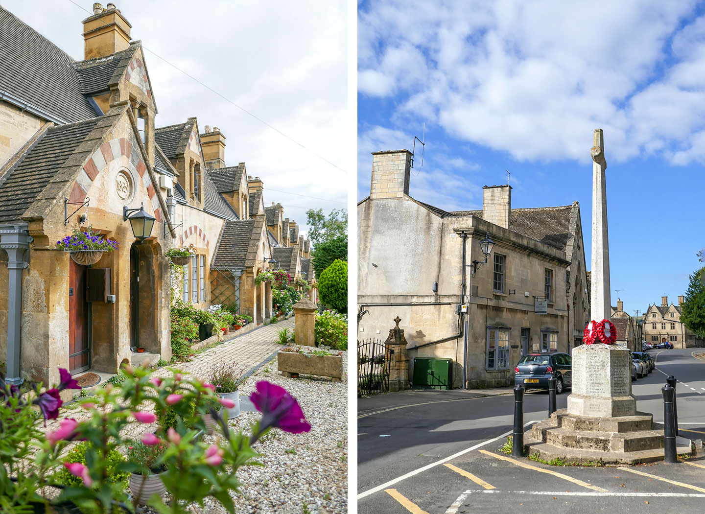 Winchcombe almshouses and high street