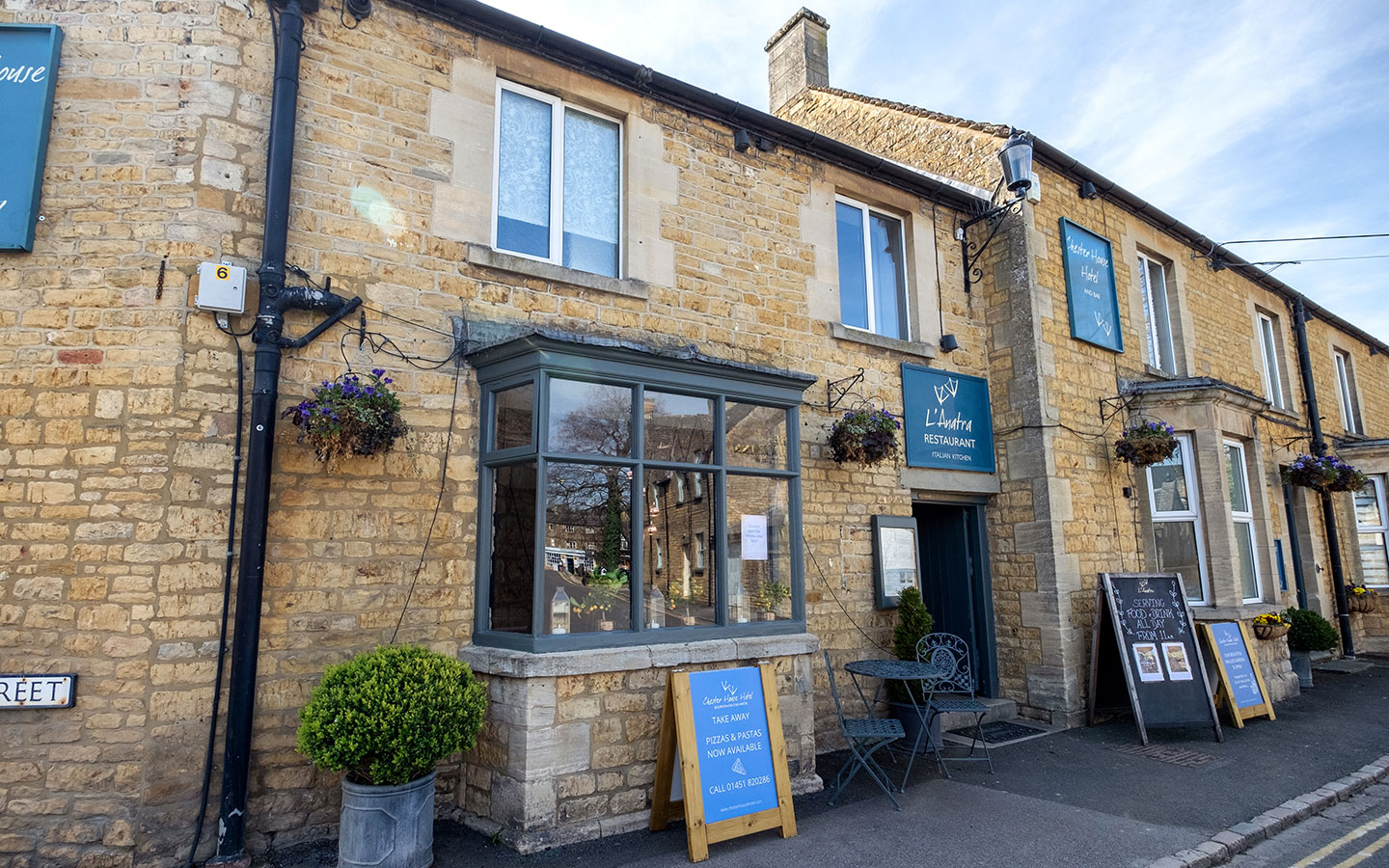 The Chester House Hotel and L'Anatra restaurant in Bourton-on-the-Water, Cotswolds