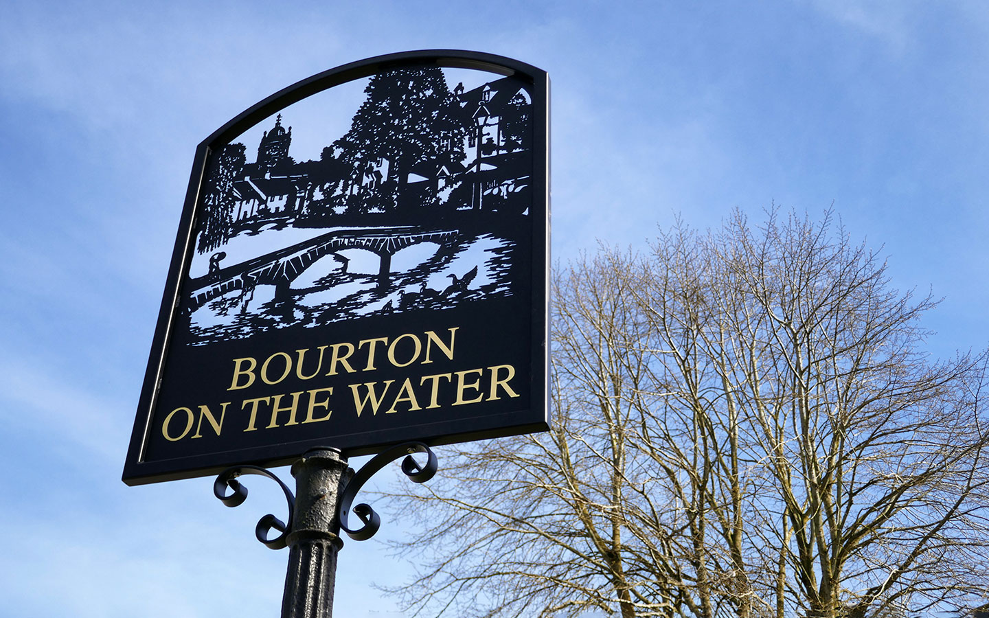 Village sign in Bourton-on-the-Water