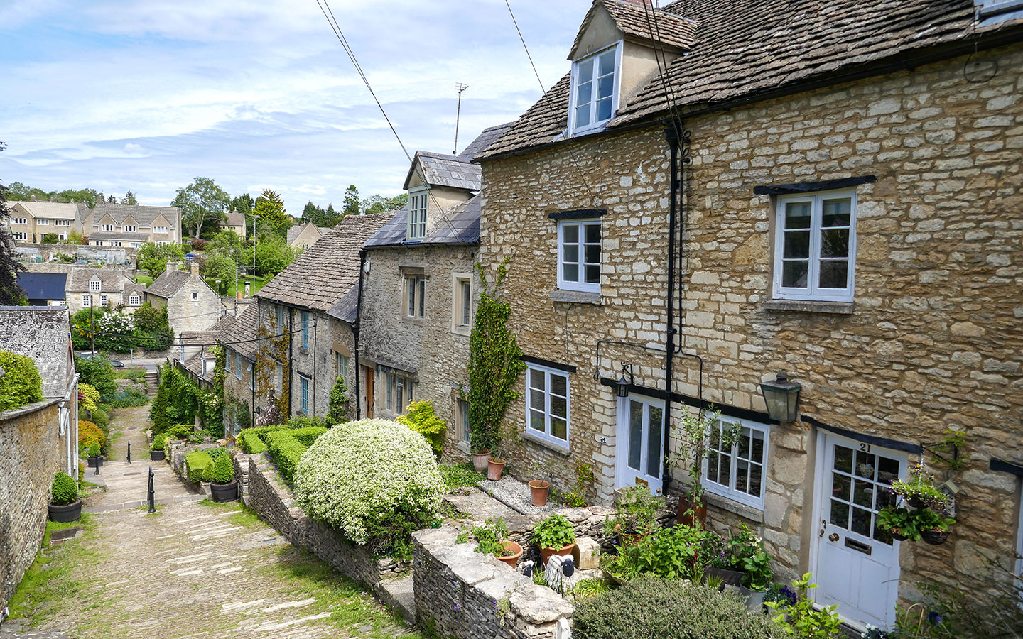 Wool merchants' houses along the Chipping Steps, Tetbury