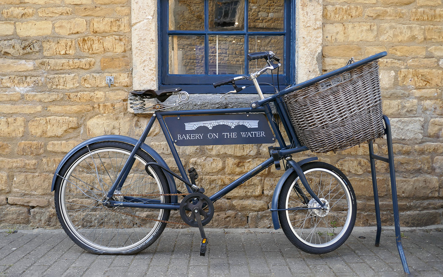 Vintage bike outside the Bakery on the Water