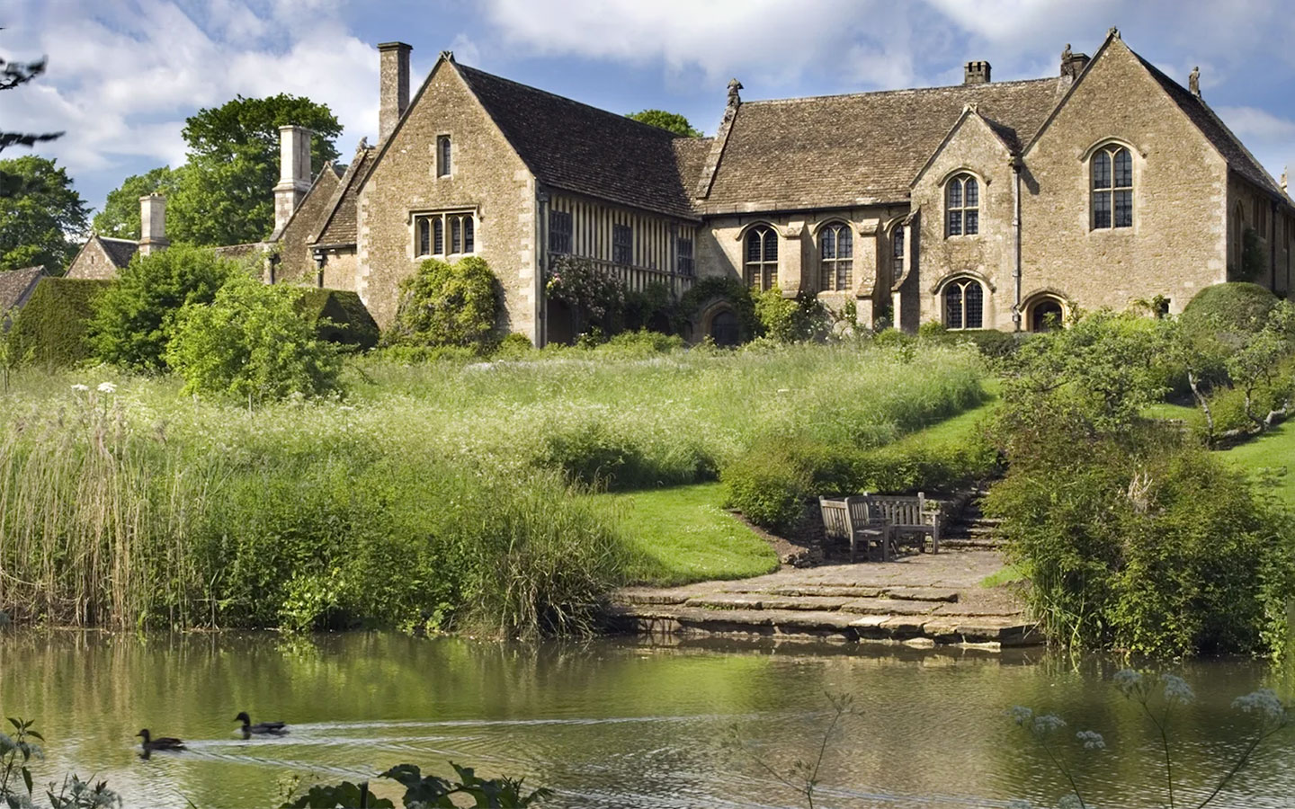 Great Chalfield Manor and Garden National Trust site in the Cotswolds