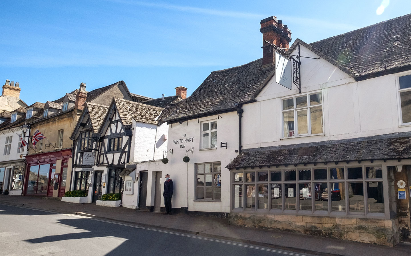 The White Hart and Wesley House in Winchcombe, Cotswolds