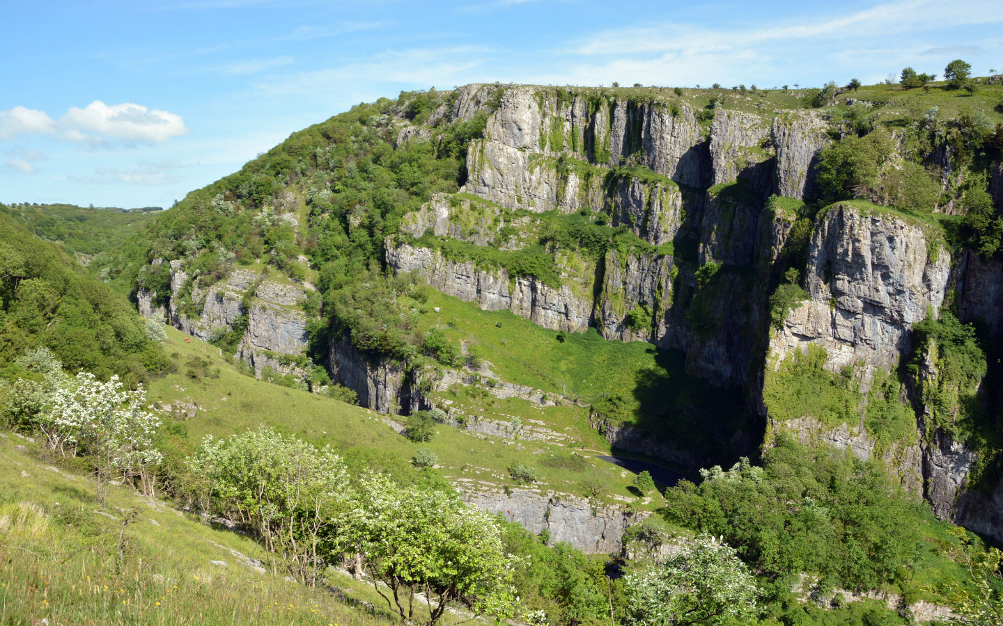 Views of Cheddar Gorge in Somerset