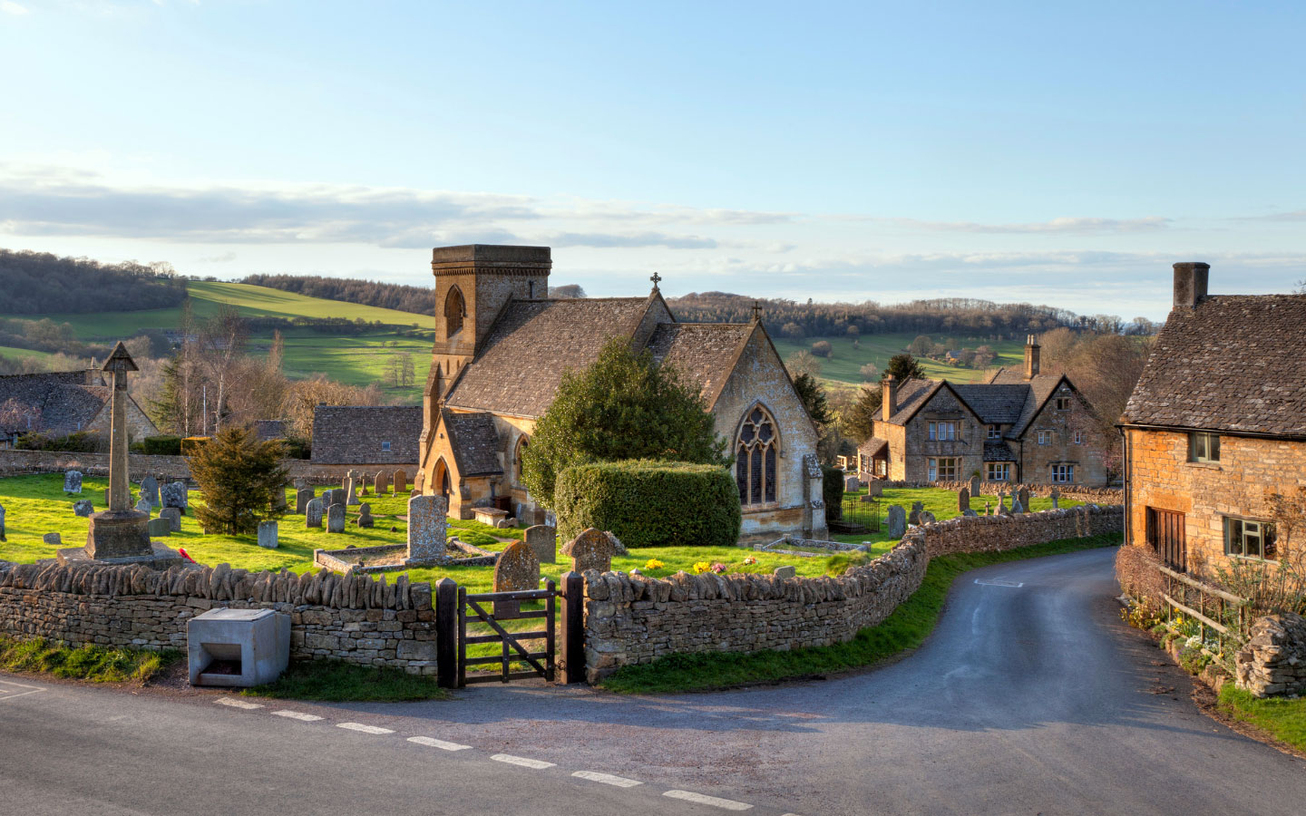 The village of Snowshill in the Cotswolds