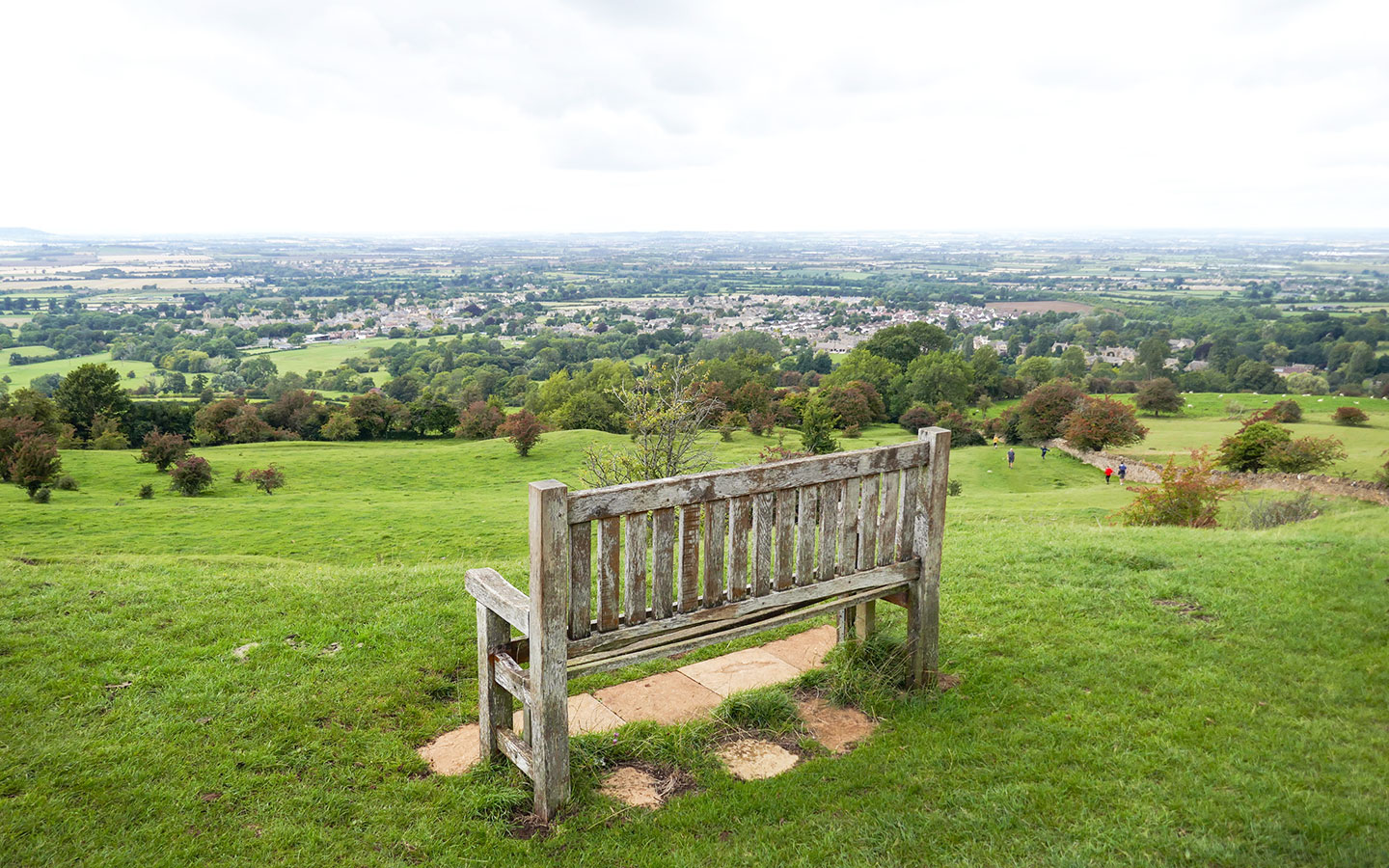 Looking down to Broadway from the Cotswold Way