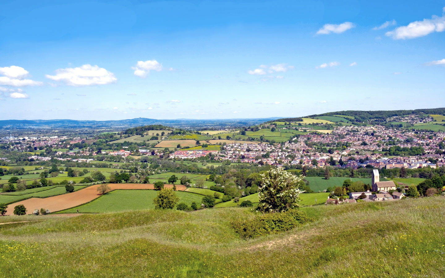 Views from Selsley Common on the Cotswold Way