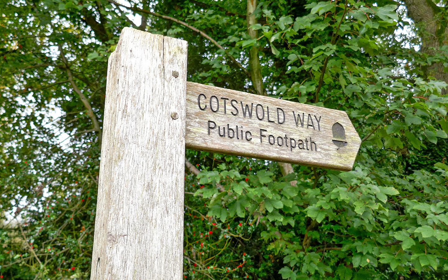 Cotswold Way signpost