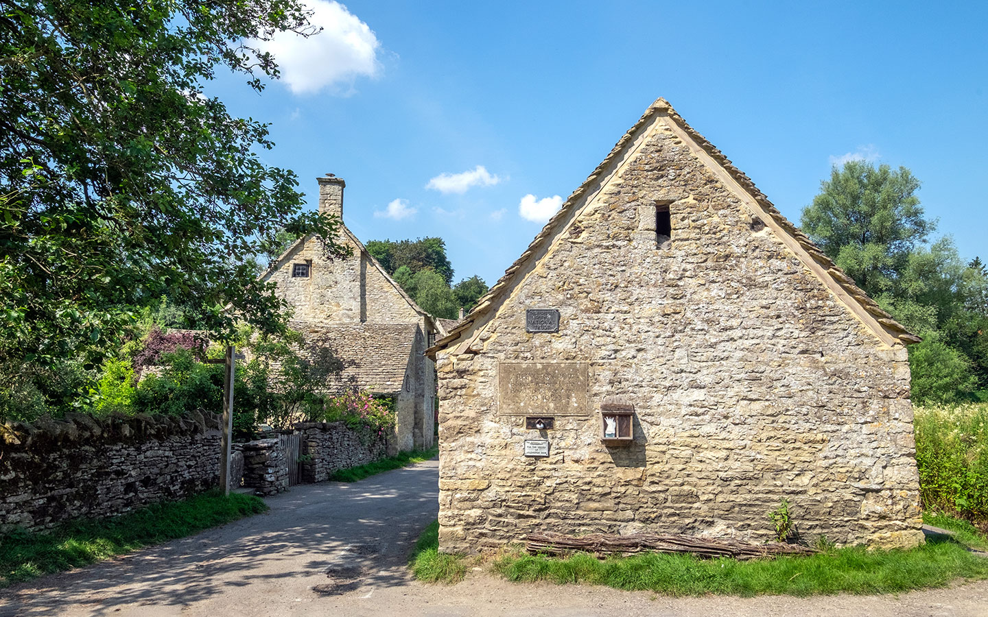 The entrance to Arlington Row in Bibury, Cotswolds