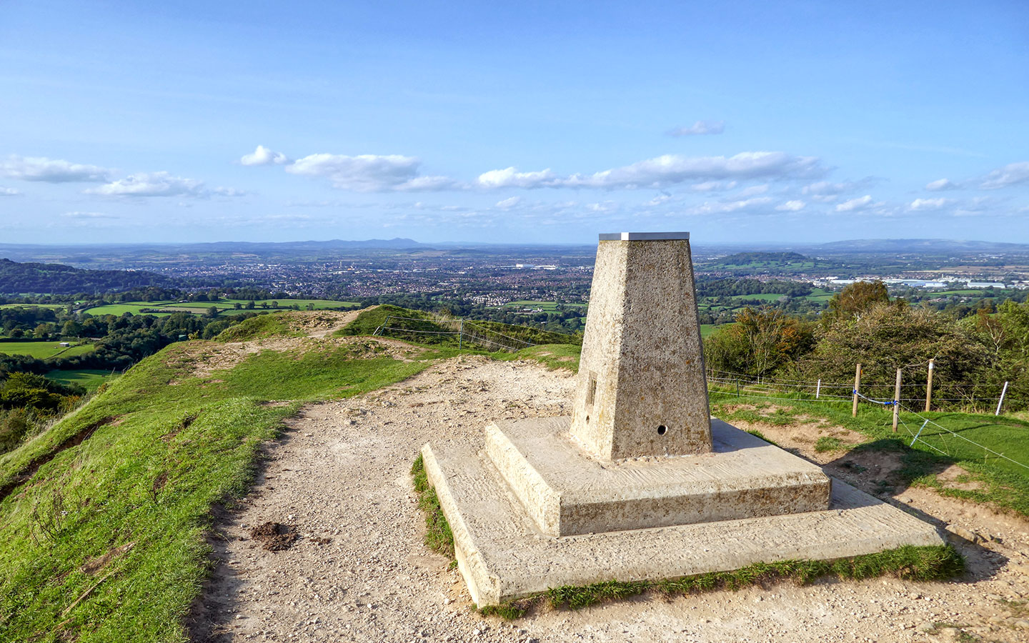 Views from Painswick Beacon in the Cotswolds in summer