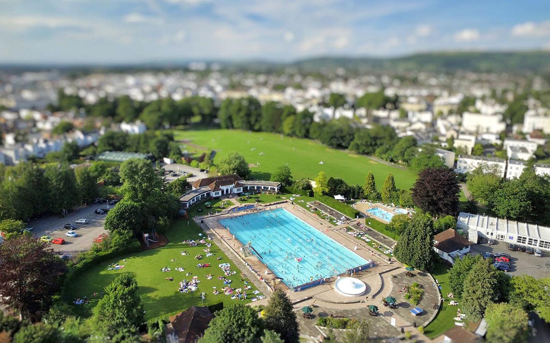 Sandford Parks Lido in Cheltenham