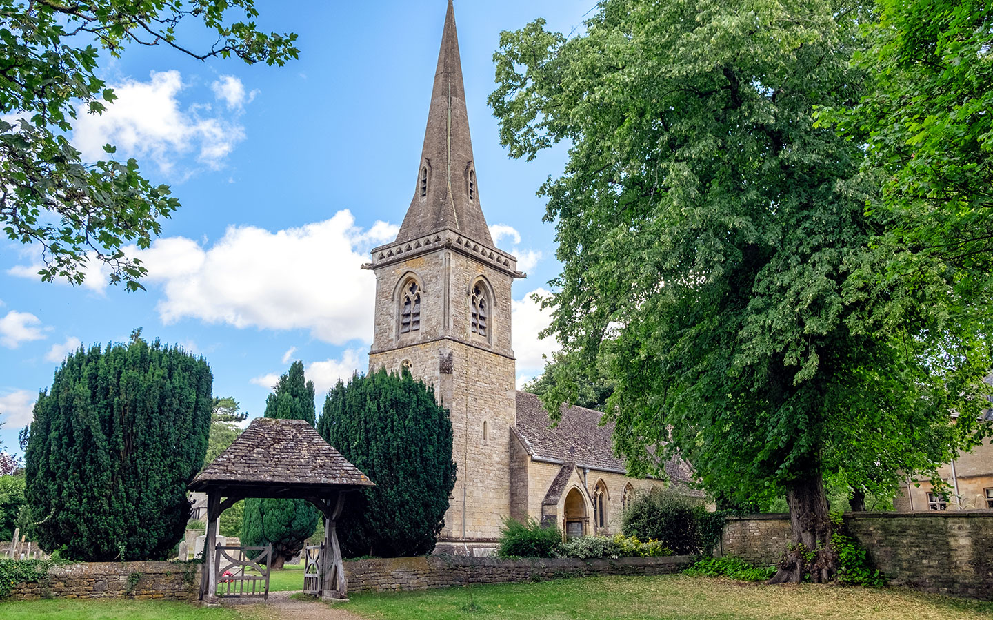 St Mary's Church in Lower Slaughter in the Cotswolds