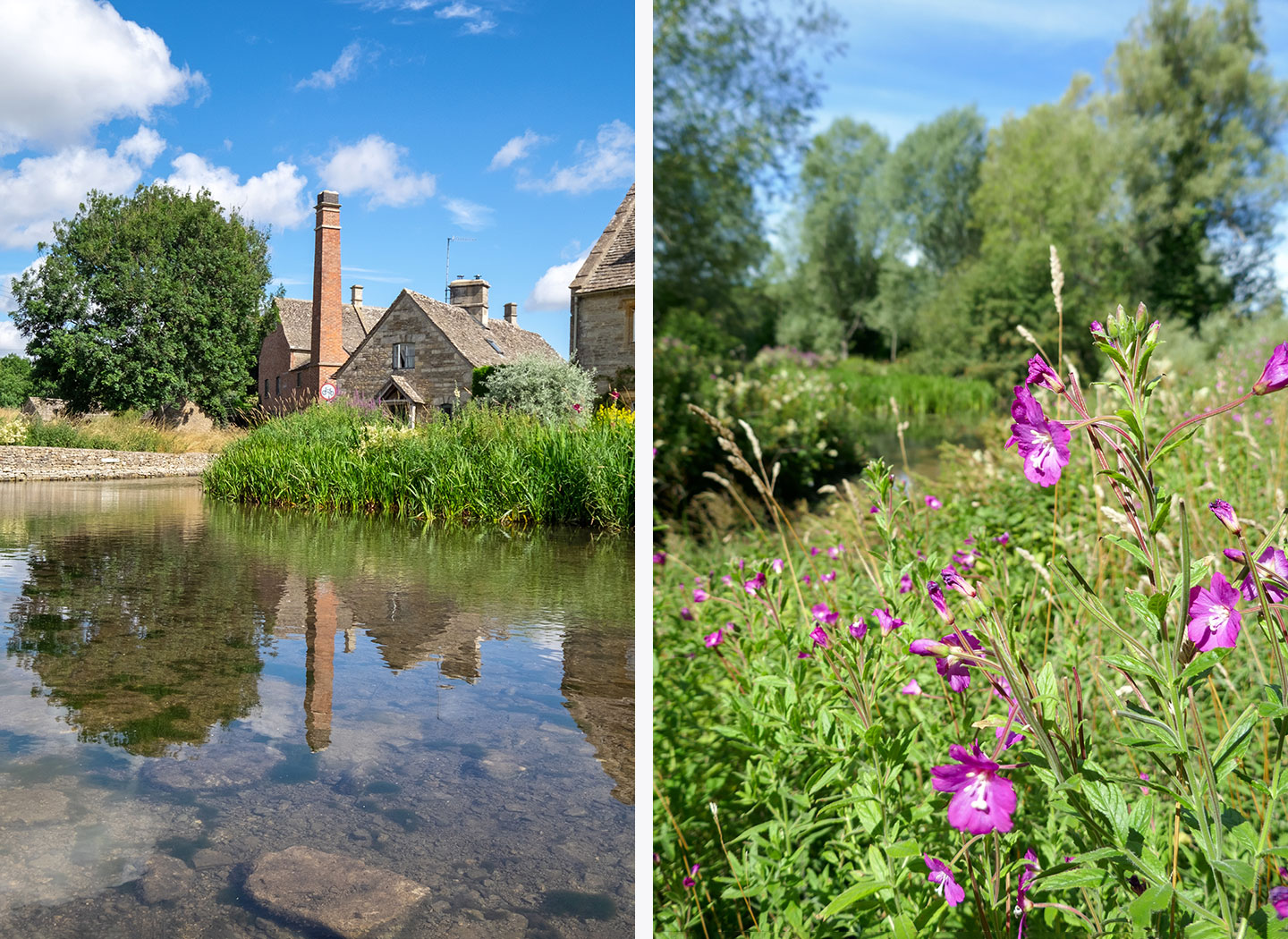 Walking to Upper Slaughter in the Cotswolds