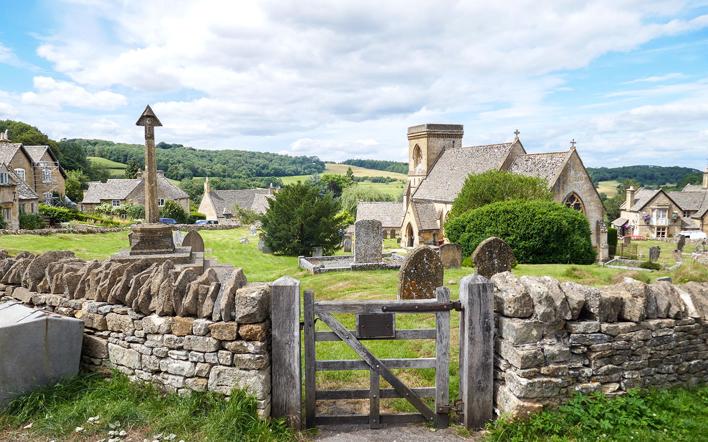Snowshill in the Cotswolds, film location for Bridget Jones Diary